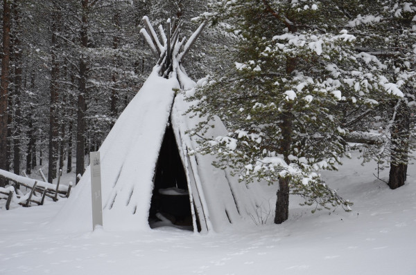 This traditional smoking house is used by the Sámi people of Finland to smoke reindeer meat, according to Thomas DuBois, the Halls-Bascom Professor of Scandinavian Folklore and Religion at UW‒Madison.